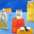 Scottish Castle, Two Sheep